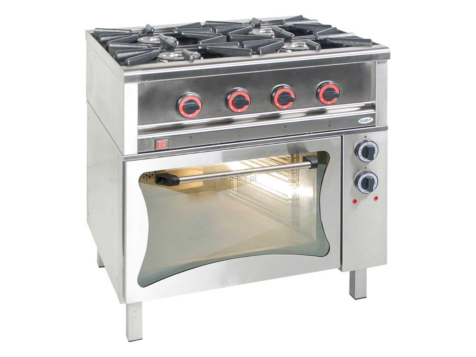 kuchnia gazowa 4palnikowa z piekarnikiem gazowym tg egaz